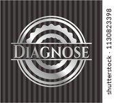 diagnose silver shiny emblem | Shutterstock .eps vector #1130823398