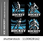 hockey emblem collections ...   Shutterstock .eps vector #1130828162
