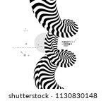black and white design. pattern ... | Shutterstock .eps vector #1130830148