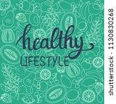 vector background healthy food... | Shutterstock .eps vector #1130830268