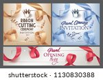 grand opening  invitation cards ... | Shutterstock .eps vector #1130830388