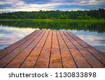 perspective view of a wooden... | Shutterstock . vector #1130833898