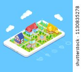 isometric city infrastructure... | Shutterstock .eps vector #1130835278