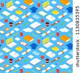 seamless pattern of student... | Shutterstock .eps vector #1130835395