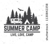 summer camp. vector... | Shutterstock .eps vector #1130842358