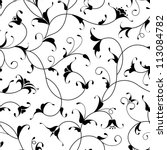 floral oriental black isolated... | Shutterstock .eps vector #113084782