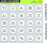 thin line hotel services icons... | Shutterstock .eps vector #1130851925