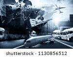 smart technology logistics... | Shutterstock . vector #1130856512