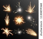 fiery sparks collection. light... | Shutterstock .eps vector #1130859368