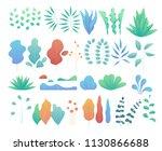vector set of modern flat... | Shutterstock .eps vector #1130866688