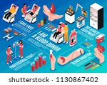 blood donation medical staff...   Shutterstock .eps vector #1130867402