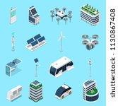 smart city isometric icons set | Shutterstock .eps vector #1130867408