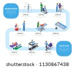 steps of rehabilitation process ... | Shutterstock .eps vector #1130867438