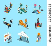teamwork isometric icons set | Shutterstock .eps vector #1130868338