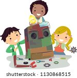 illustration of stickman kids... | Shutterstock .eps vector #1130868515