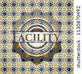 facility arabic style badge....   Shutterstock .eps vector #1130870492