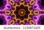 electrical lights kaleidoscope...   Shutterstock . vector #1130871605