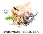 watercolor illustration of...   Shutterstock . vector #1130871878