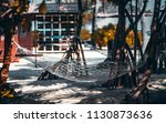 the hammock stretched in the... | Shutterstock . vector #1130873636