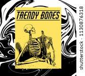 trendy bones. vector hand drawn ... | Shutterstock .eps vector #1130876318