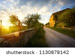 typical tuscany countryside... | Shutterstock . vector #1130878142
