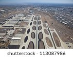 Jet Airliner taking off from Sky Harbor Airport in Phoenix, Arizona - stock photo