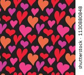 heart symbol seamless pattern...   Shutterstock .eps vector #1130880848