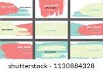 trendy business cards vector... | Shutterstock .eps vector #1130884328