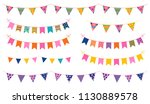 vector party buntings with... | Shutterstock .eps vector #1130889578
