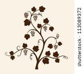 grape vine silhouette. vector... | Shutterstock .eps vector #113089372