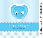 baby shower card | Shutterstock .eps vector #1130902805
