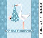 baby shower card | Shutterstock .eps vector #1130902808