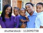 african american family... | Shutterstock . vector #113090758