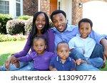 african american family... | Shutterstock . vector #113090776