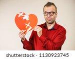 bad relationships  breaking up  ... | Shutterstock . vector #1130923745