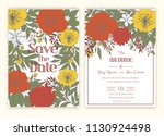 floral hand drawn frame for a... | Shutterstock .eps vector #1130924498
