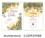 floral hand drawn frame for a... | Shutterstock .eps vector #1130924588