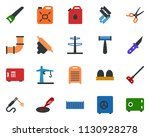 colored vector icon set  ... | Shutterstock .eps vector #1130928278