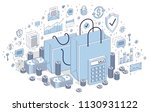 big sale concept  retail ... | Shutterstock .eps vector #1130931122