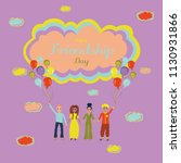 happy friendship day. people of ...   Shutterstock .eps vector #1130931866