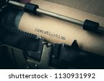 vintage inscription made by old ... | Shutterstock . vector #1130931992