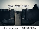 yes you can   typed words on a... | Shutterstock . vector #1130932016