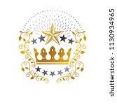 royal crown emblem. heraldic... | Shutterstock .eps vector #1130934965