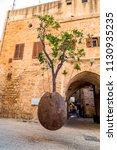 suspended orange tree in the... | Shutterstock . vector #1130935235