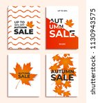 set of autumn sale banners or... | Shutterstock .eps vector #1130943575