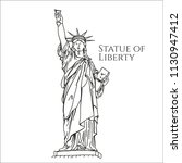 statue of liberty new york | Shutterstock .eps vector #1130947412