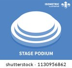 stage podium icon. isometric... | Shutterstock .eps vector #1130956862