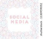 social media icons. social... | Shutterstock .eps vector #1130959052