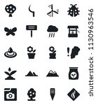 set of vector isolated black...   Shutterstock .eps vector #1130963546