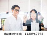 pretty thai office worker... | Shutterstock . vector #1130967998